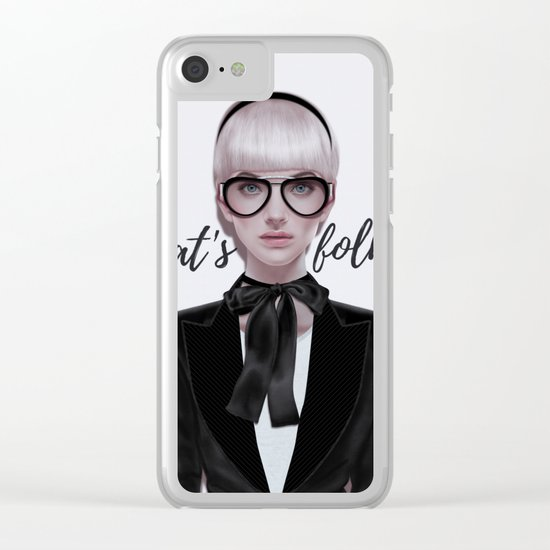 That's__folks! Clear iPhone Case