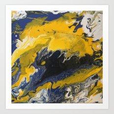 yellow abstract Art Print