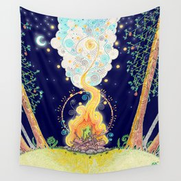 Woodland Campfire Wall Tapestry