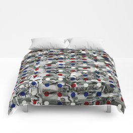 3G Mixed Reality Free Space  (P/D3 Glitch Collage Studies) Comforters