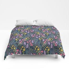 Woodland wildflowers - evening Comforters