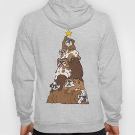 Christmas Tree English Bulldog Hoody