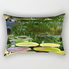 Greenery Pond Rectangular Pillow