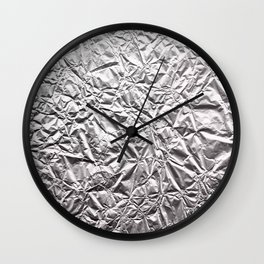Silver Paper Wall Clock