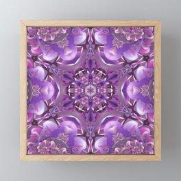 Truth Mandala in Purple, Pink and White Framed Mini Art Print