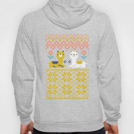 Fair Isle Christmas Alpaca Pattern Hoody