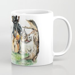 """ Bluegrass Gang "" wild animal music band Coffee Mug"