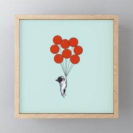 I Believe I Can Fly French Bulldog Framed Mini Art Print