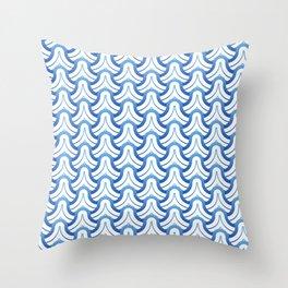 Abstract sea wavy seamless pattern Throw Pillow