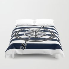 Navy Striped Nautica Duvet Cover