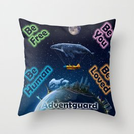 Advent Guard Earth Tranquil Whale Aspect Throw Pillow