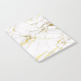 White gold marble Notebook