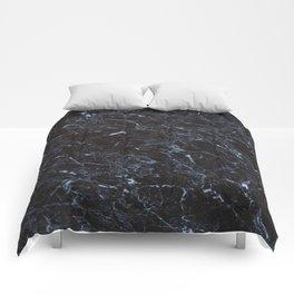 Dark blue Water Marble Comforters