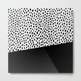 Dalmatian Spots with Black Stripe Metal Print