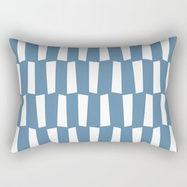 Grayish blue and white abstract shapes pattern Rectangular Pillow