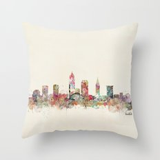 cleveland ohio skyline Throw Pillow