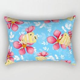 Floral Fish Rectangular Pillow