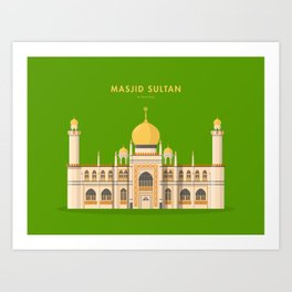 Masjid Sultan, Singapore [Building Singapore] Art Print