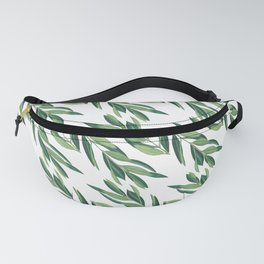Olive Brunch Green Watercolor Painting Pattern Digital Fanny Pack