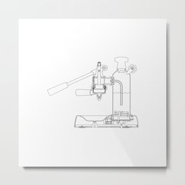 La Pavoni Lever Espresso Machine Metal Print