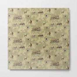Safari Animals Pattern Metal Print