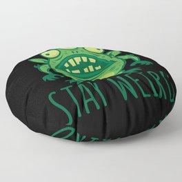 Stay Weird Alien Monster Floor Pillow