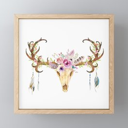 Deer Skull Framed Mini Art Print