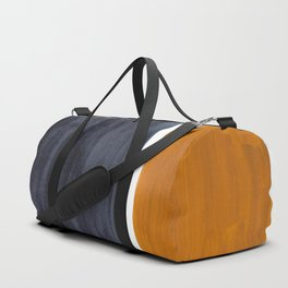 Minimalist Mid Century Modern Colorful Color Field Rothko Navy Blue Yellow Ochre Duffle Bag