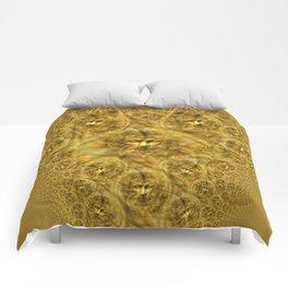 Golden Facial Fractual Comforters