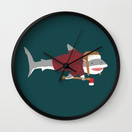 Shark LumberJack Wall Clock