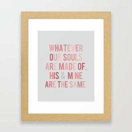 Love Quote Poster Framed Art Print