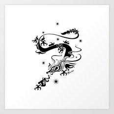 Black Dragon Art Print