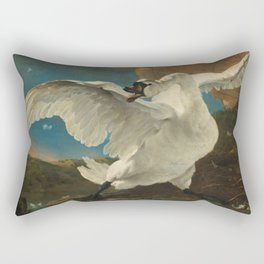 The threatened swan - Jan Asselijn (1650) Rectangular Pillow