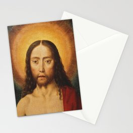 Head of Christ, Dirk Bouts, 15th Century Dutch Painting Stationery Cards