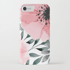 Big Watercolor Flowers Slim Case iPhone 7