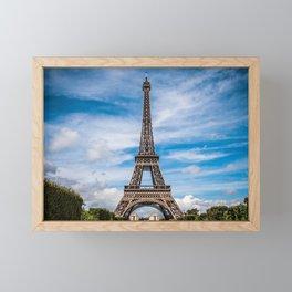 Eiffel Tower Before Cloud Streaked Sky Framed Mini Art Print