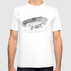 Mad Max Interceptor White LARGE Mens Fitted Tee
