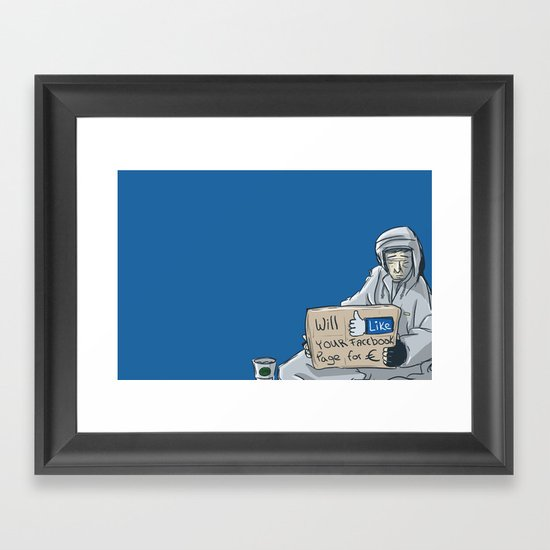 Will like your Facebook page for € Framed Art Print