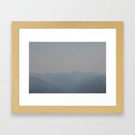 Hurricane Ridge Framed Art Print
