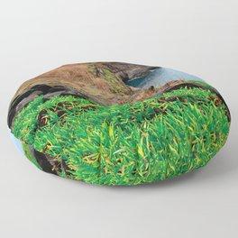 Coastal landscape in Azores Floor Pillow