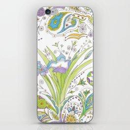 Whimsical Paisley Iris iPhone Skin