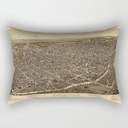 Map Of Titusville 1896 Rectangular Pillow