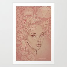Honey Lamb Art Print