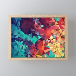 Abstract Rainbow Gem Framed Mini Art Print