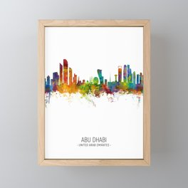 Abu Dhabi Skyline Framed Mini Art Print