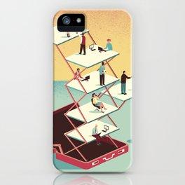 Work in a briefcase iPhone Case