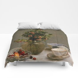 Henri Fantin Latour - Still Life With Vase Of Hawthorn Comforters