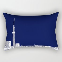 Tokyo Sky Tree by Night Rectangular Pillow