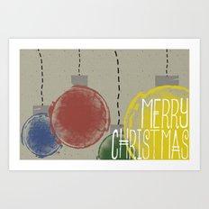 Merry Christmas Ornaments Art Print