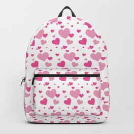 Girly Pink Hearts Seamless Pattern 109 Backpack
